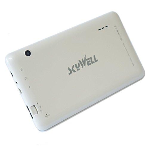 7 inch Tablet pc Android 4.4 KitKat Dual Core 1Ghz Rockchip RK3026 ARMv7 Dual Camera Google Play Store 8GB Storage 1024x600 ARM Mali-400 MP2 GPU White