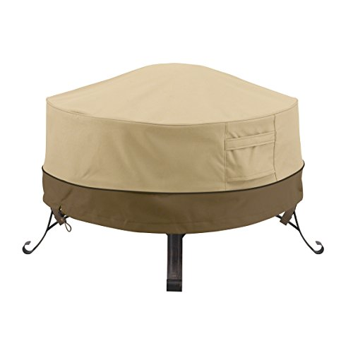 Classic Accessories Veranda Water-Resistant 30 Inch Round Fire Pit Cover