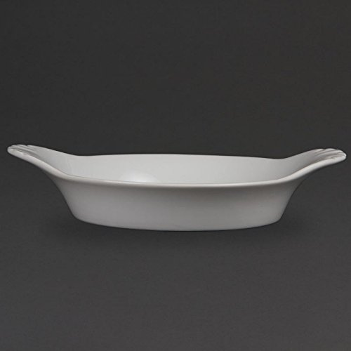 Olympia w433 Whiteware rond Motif coq, blanc (Lot de 6)