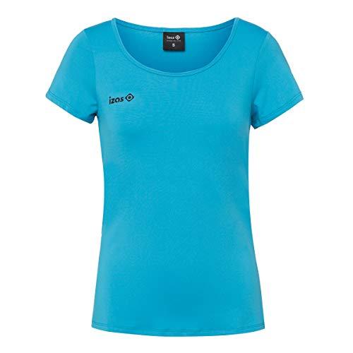 IZAS Aland Chemise de Course à Manches Courtes Femme, Turquoise, FR : M (Taille Fabricant : M)