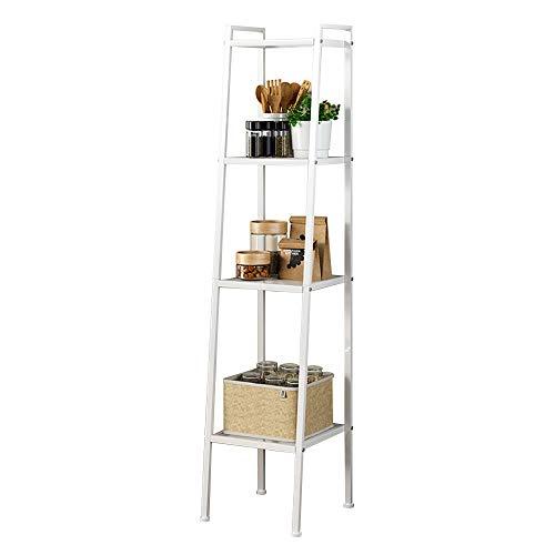 SogesGame 4-Tier Ladder Shelf Storage Rack Shelves Display Storage Rack Plant Flower Stand for Living Room Bathroom Kitchen White LXH-TJ30W-S8-US