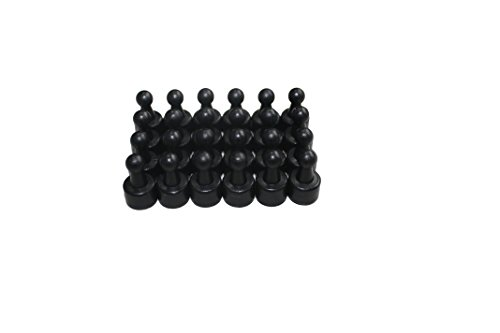 USKYMAG 24 Solid Magnetic Push Pins, Pawn Style--Perfect and Powerful Magnetic Pushpins for Fridges, Maps, Whiteboards, Cabinets (black)