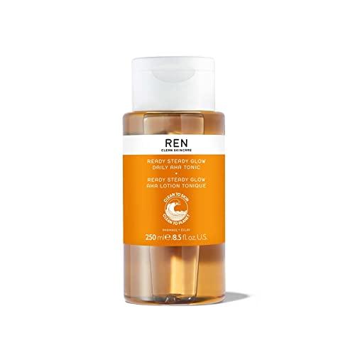 REN Clean Skincare Glow Tonic - Daily Facial Brightening - Exfoliate,...