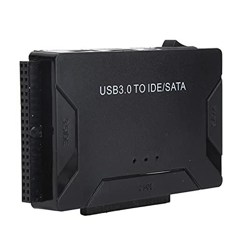 Garsentx Adaptador USB IDE USB3.0 a Cable de Disco Duro SATA Convertidor Adaptador HDD SSD, convertidor Combo 3.0 a SATA IDE, Accesorios de computadora(EU)
