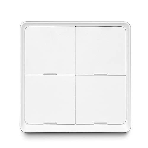 Smart Switch 3 Paired Mode 4 Gang Scenario Scene Interruptor de Escena inalámbrico para Tuya ZigBee Home Assistant