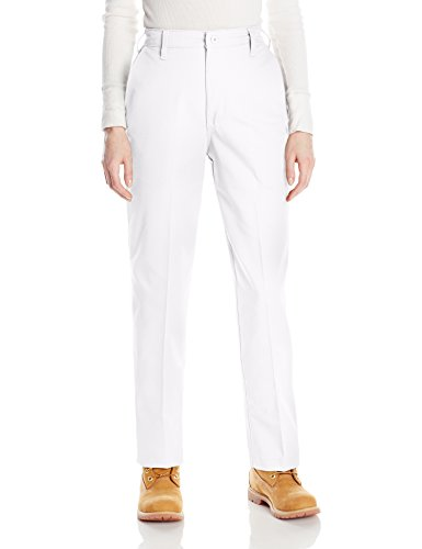 Red Kap Women's Plus Size Elastic Insert Work Pant, White, 24x28