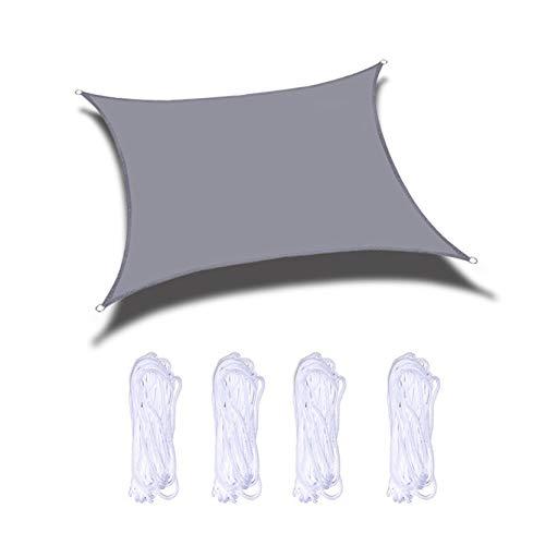 Tela Toldo, Rectángulo O Cuadrado Impermeable Sombra Sombra De Sombra Balcón De Jardín con Cuerdas De Montaje, Protección Intemperable Dispensador De Sombra Resistente Al AG(Size:4X8m/13.1X26.2ft)
