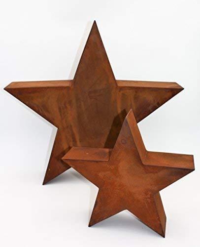 Rostikal Weihnachtsdeko Garten Stern 40 cm Deko Weihnachten 3D Edelrost Stern Gartendeko