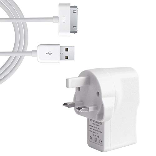iPad 1, 2 and 3 Fast Charger 2.1 amp High Quality Light Weight USB Mains Charger Includes USB 2.0 cable for the latest iPad 1,2, and 3 and iPod Touch 5th Gen and your other devices with the same connector, CE certified
