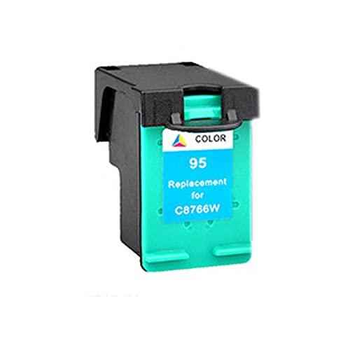 Compatible para HP 94XL 95XL Toner Cartucho Reemplazo para HP DeskJet 460c 5740 6520 6540 6620 6840 9800 OfficeJet 100 150 6200 Tinta de Tinta de Impresora, Imagen t Color
