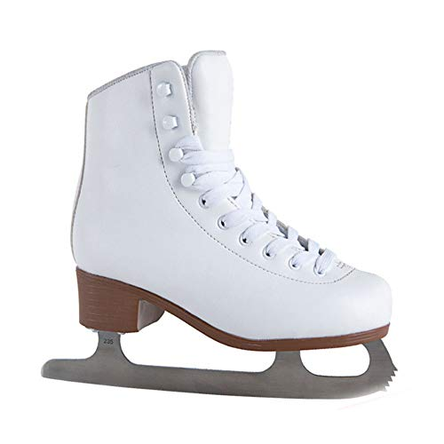 Freizeit-Schlittschuh Sohle Aus Kältebeständiges PVC, Eiskunstlauf Für Damen Und Kinder - Alle Größen,Weiß,31