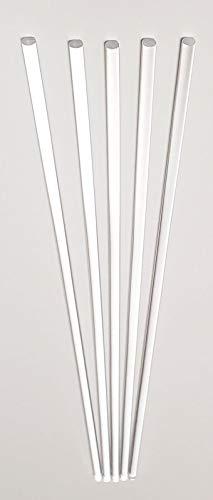 """5 Pcs 3/16"""" Diameter x 24"""" Long Clear Acrylic Plexiglass Plastic Rod - .1875"""" Dia - 4.76mm"""