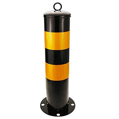 Genagelt Stahl-Poller mit abnehmbaren Sockel,Parkplatzsperre Parkplatzbügel Parkplatz Absperrpfosten Absperrung, 114x500mm