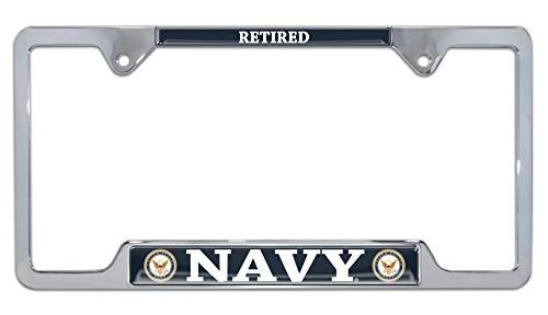 Elektroplate U.S. Navy Retired Color Open License Plate Frame