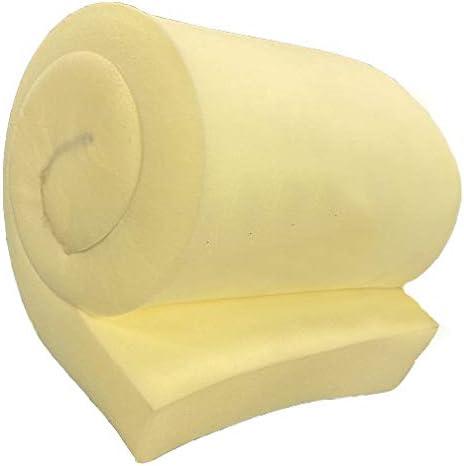 High Resilience Upholstery Cushion GoTo Foam 1 Height x 30 Width x 96 Length 44ILD Firm HR