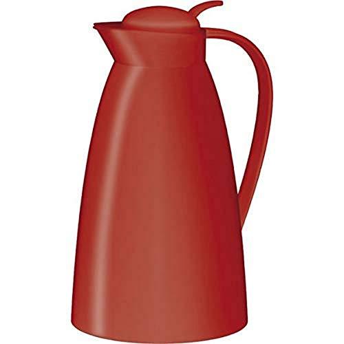 alfi Isolierkanne Eco, Kunststoff rot 1l, mit alfiDur Glaseinsatz, 0825.037.100, Thermoskanne hält 12 Stunden heiß, ideal als Kaffeekanne oder Teekanne, Kanne für 8 Tassen