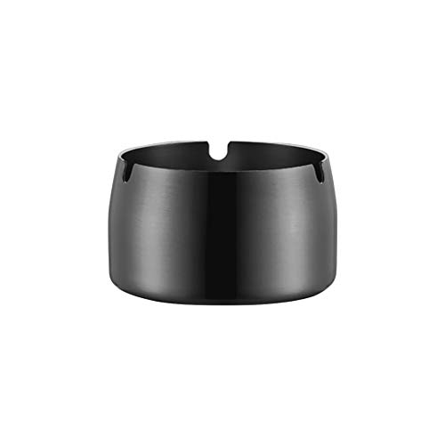 Euone_Home Easter Decorations Sales!!!Stainless Steel High Temperature Resistant Drop Resistant Round Design Ashtray,