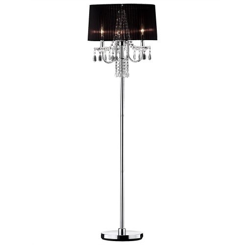 OK LIGHTING OK-5111F Crystal Drop Floor Lamp, 59.75' x 18' x 18'