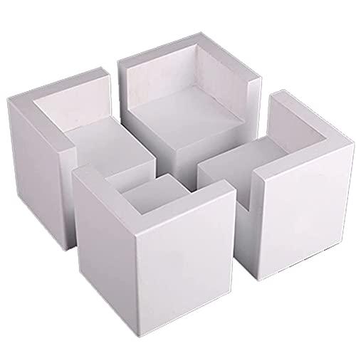 4 Muebles De Paquete Patas Para Muebles Antideslizante Natural De Madera Maciza Pies Para Muebles Para Sofá Mesa De Centro Gabinete De TV Con Pies Levantados,6 * 6 * 3cm