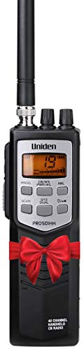 Uniden PRO501HH Pro-Series 40-Channel Portable Handheld CB Radio/Emergency/Travel Radio, Large LCD Display, High/Low Power Saver, 4-Watts, Auto Noise Limiter, NOAA Weather, and Earphone Jack