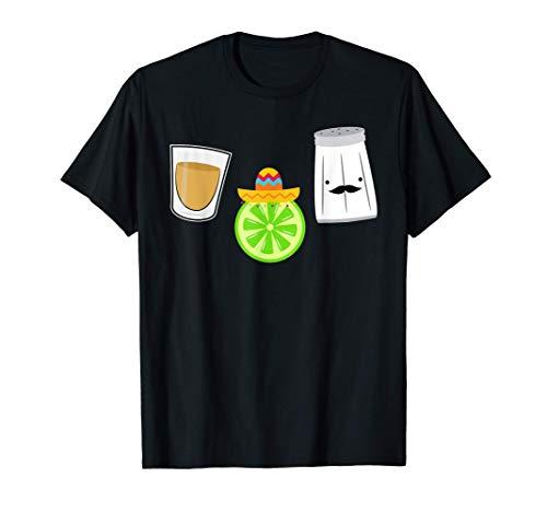 Salz Zitrone Schnaps Mexiko Sombrero Party T-Shirt T-Shirt