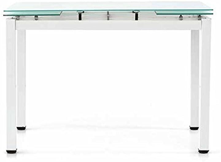 Tavolo, metallo, bianco, 110 x 70 x 76 cm fashion commerce fc608v