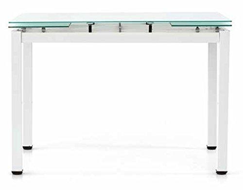Fashion Commerce FC608V Tavolo, Metallo, Bianco, 110 x 70 x 76 cm