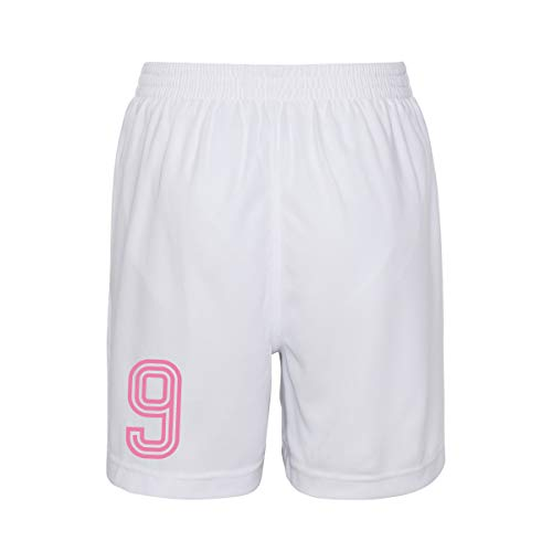 Personalised Retro England Style Kit Pink Football Shirt and Shorts for Girls and Boys Best Birthday Gift for Children and Playwear for 5 to 6 Years Old Kids