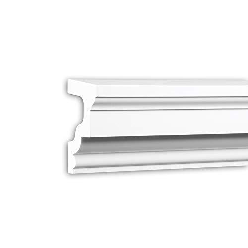 contorno finestre esterne PRO[f]home® - Davanzale 482201 cornice per esterno contorno finestre elemento di facciata stile neoclassico bianco 2 m Profhome