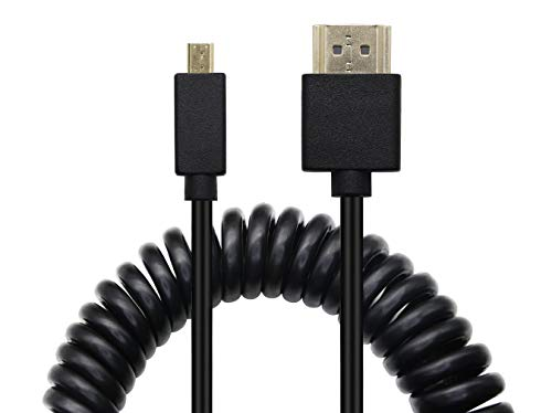HDMI a HDMI Cavo a spirale YAODHAOD 0.3-1.2M cavo convertitore HDMI maschio a maschio HDMI placcato in oro 2.0 4K 60Hz, per HDTV, tablet, fotocamere e altri dispositivi (Micro HDMI 1.2M)