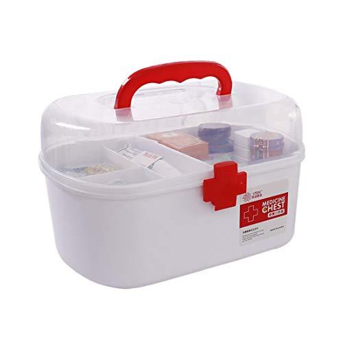 ColiCor Hausapotheke Box,Multi-Layer Medizin Box,Erste Hilfe Hausapotheke,27.5 x 18.5 x 17.2cm