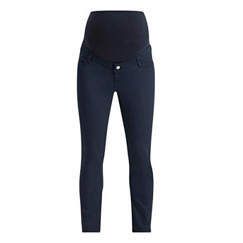 ESPRIT Maternity Damen Pants OTB 7/8 Slim Umstandshose, Blau (Night Blue 486), (Herstellergröße: 34)