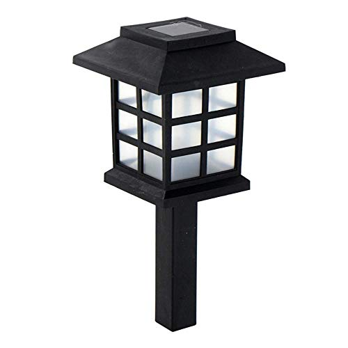 Garten-Pfahl-Lichter, Solargarten-Licht-Warme Weiße Solarrasen-Lampe Im Freien, Solarbahn-Lampen-Dekor-Beleuchtung Für Garten, Patio, Swimmingpool, Park