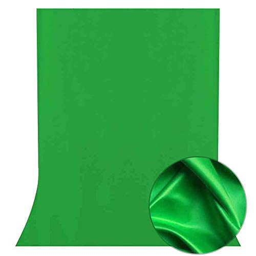FayTun Fondo fotográico, 2 x 3m Plegable Telón de Fondo de 100% Pura Muselina para Estudio fotográfico para Fotografía, Vídeo y Televisión, Verde, Incluye únicamente el Fondo