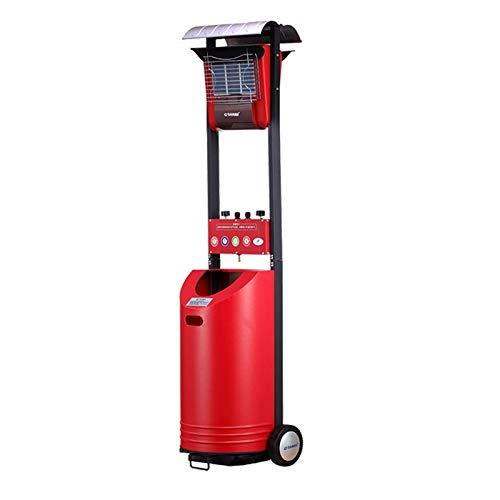 WILK Chauffage Calentador de Patio a Gas de 8.4KW, Calentador de Patio al Aire Libre Independiente, Jardín, Campamento, Uso de Fiestas de Barbacoa, Área de Aplicación 80-120㎡