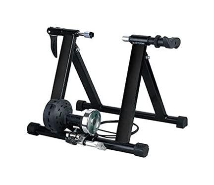 LIXBD Vélo d appartement magnétique portable pour entraînement de vélo (Noir)