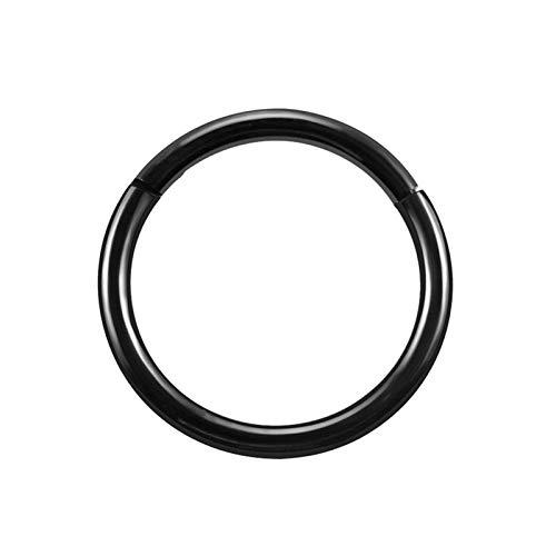 AnazoZ 1PC Piercing de Acero Inoxidable Aro 10/MM Negro 1.2x10 Pendientes de Nariz Hombre