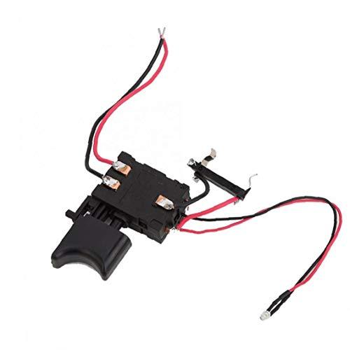 Hiinice Control De Velocidad Interruptor Eléctrico Taladro 12v Fa2-16 / 1wek Batería De Litio Sin Cable Interruptor De Perforación para Taladro Eléctrico Black Productos Industriales