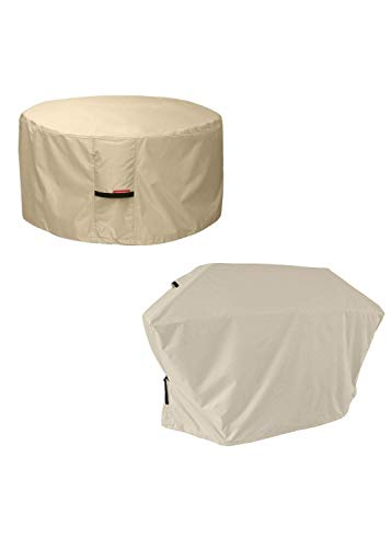 Porch Shield Waterproof Patio Fire Pit Bowl Cover 50 inch, Outdoor BBQ Gas Grill Cover Up to 48 inch