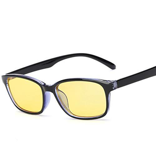 WPOS Anti-Strahlungs-Brille Rahmen Männer und Mädchen Anti-Blaue Brille Handy Computer Schutz Augen, außen schwarz innen Blue Box Porn Blue Tape
