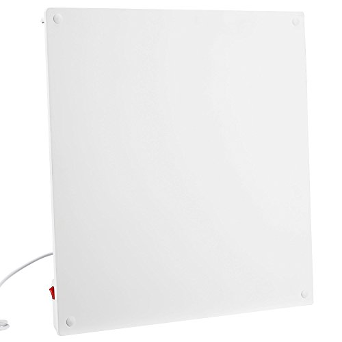 VonHaus 450W Wall Mounted Electric Flat Panel Heater – Paintable Slimline Low Energy Eco Ceramic Space Heater 23.5' x...