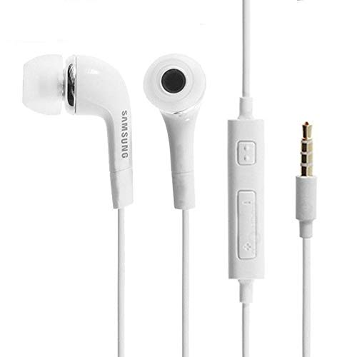TPC - Auricolari in-ear originali Samsung EO-EG900BW per Samsung Galaxy S, S2, S3, S4, S5, Note 1, Note 2, Note 3, Ace, Core, Prime, Neo, Grand, Mini, J1, J3, J5, A3, A5, bianco, sfuso