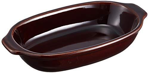 三陶萬古焼モノトーングラタンブラウン06282オーブン対応