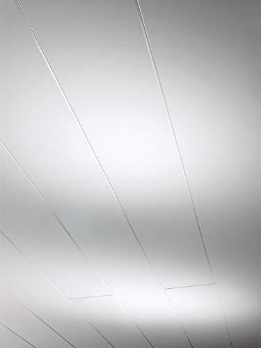 Parador Wand & Decke Novara - Weiss Hochglanz Dekor - Dekorpaneele feuchtraumgeeignet, einfache und schnelle Montage - 1242 x 192 x 10 mm