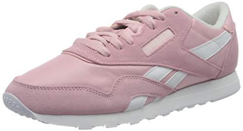 Reebok Classic Nylon, Zapatillas Mujer, Color Rosa y Blanco, 38 EU