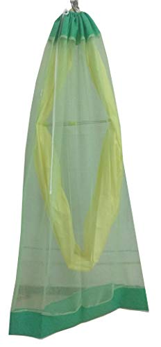 SUSI -Net Green Cotton Mosquito Net for Baby Cradle/Jhula/Swing with Zip Opening for 0 to 3 Years