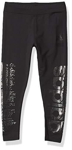 adidas Girls' Active Sports Athletic Legging Tight, Glam Graphic Black, Medium