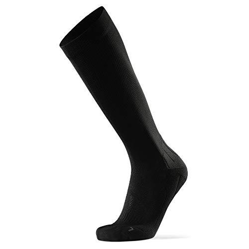 Abgestufte Kompression Socken für Männer & Frauen EU 39-42 // UK 6-8 Einfarbig Schwarz - 1 Paar