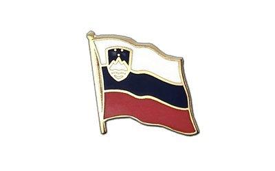 Slowenien Flaggen Pin, slowenische Fahne 2x2cm, MaxFlags®