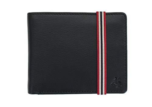 Visconti Bond-Kollektion Brieftasche Herren, Leder, mit Elastik-Verschluss, RFID-Schutz BBD707 Schwarz